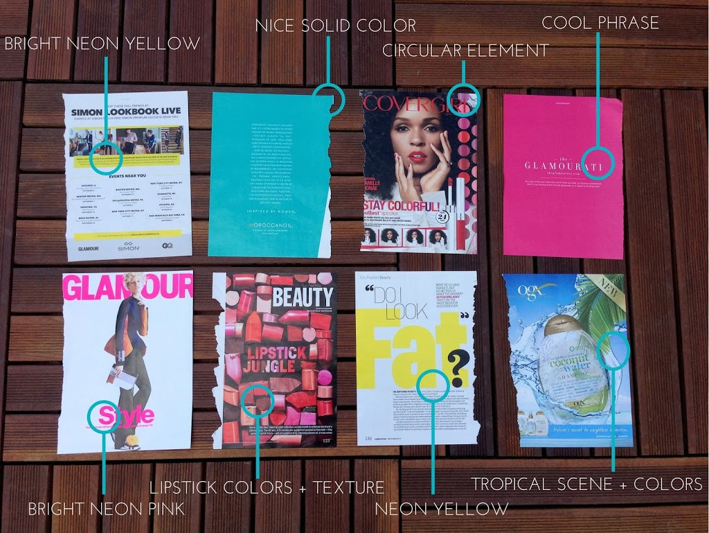 Diy magazine picture frames a touch of teal once you have your selections measure the length and height of the rectangle that makes up the longer side of the frame then cut a magazine strip to this jeuxipadfo Images