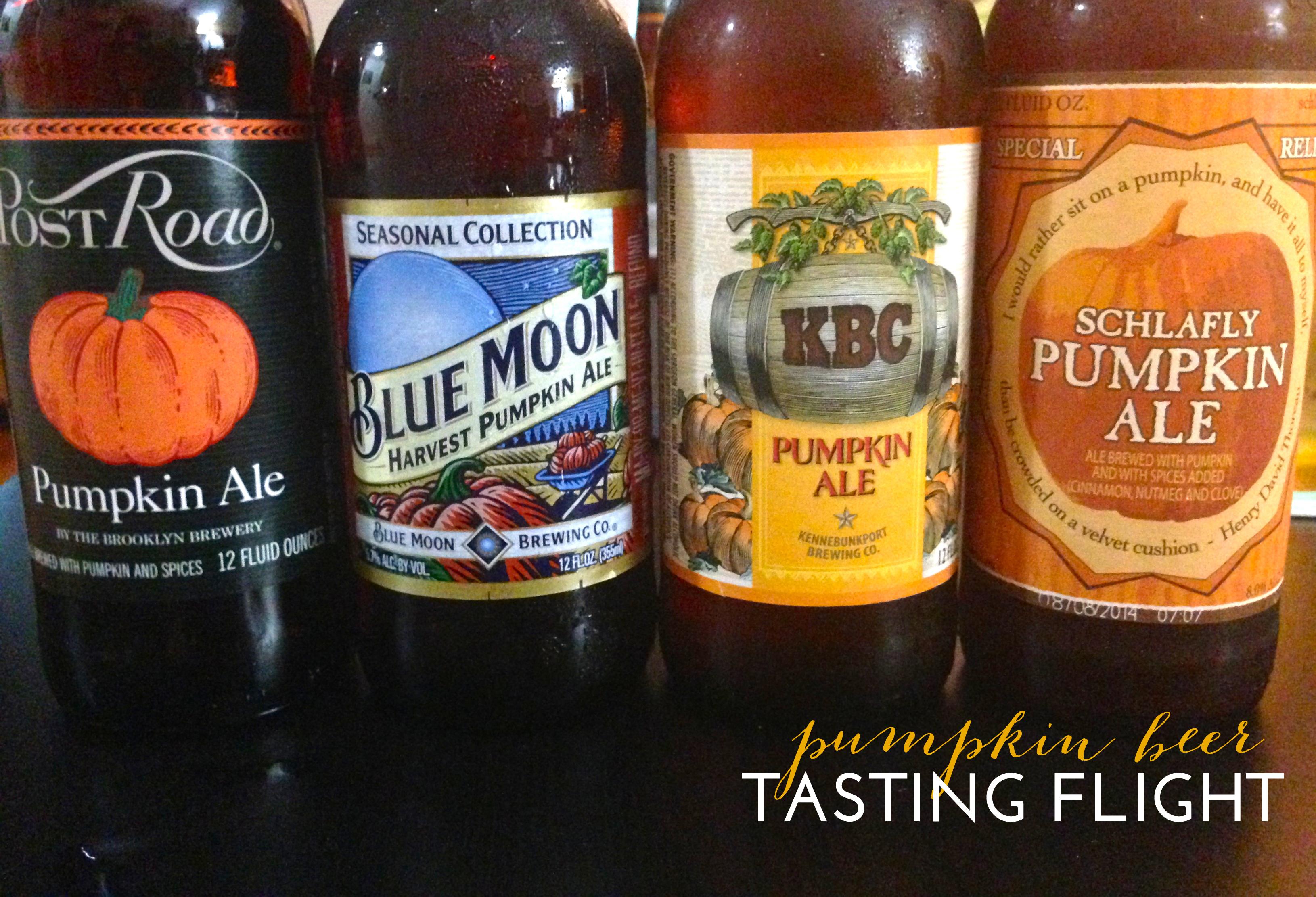 Pumpkin Beer Tasting Flight