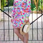 a touch of teal charles henry crepe shirtdress