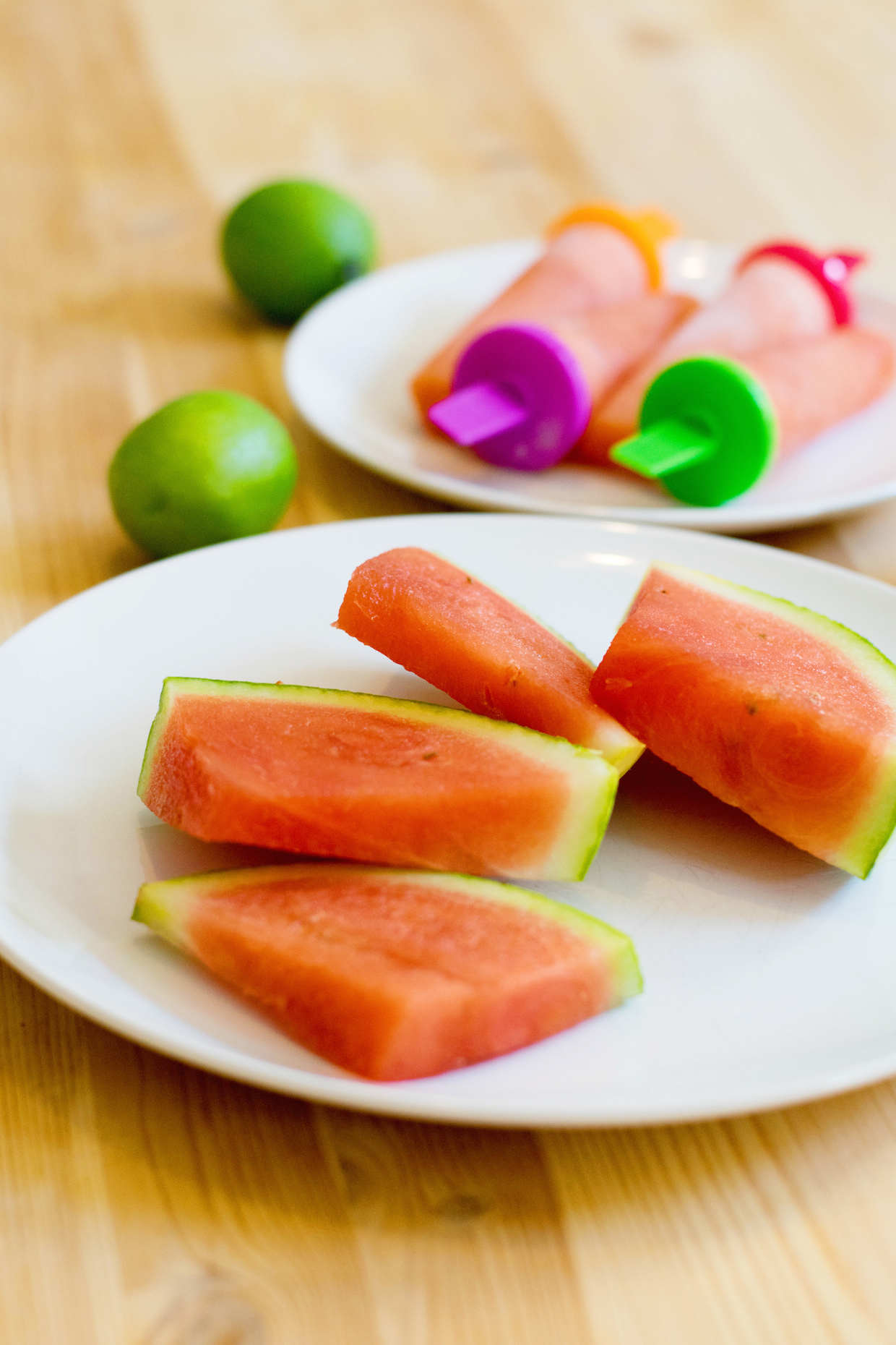 a touch of teal watermelon lime popsicles
