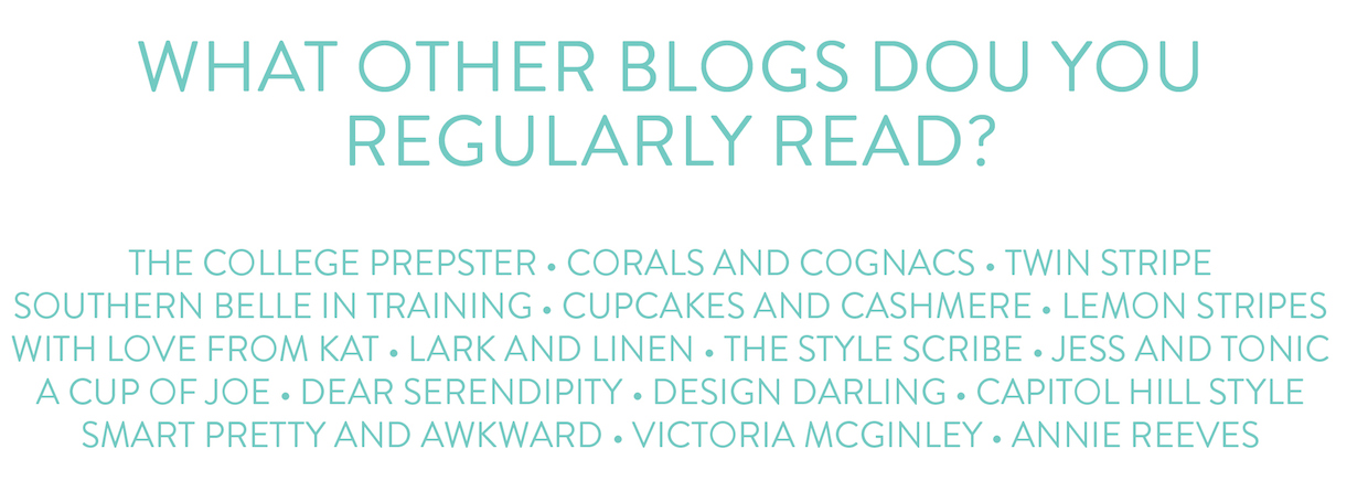 a touch of teal 2015 reader survey results