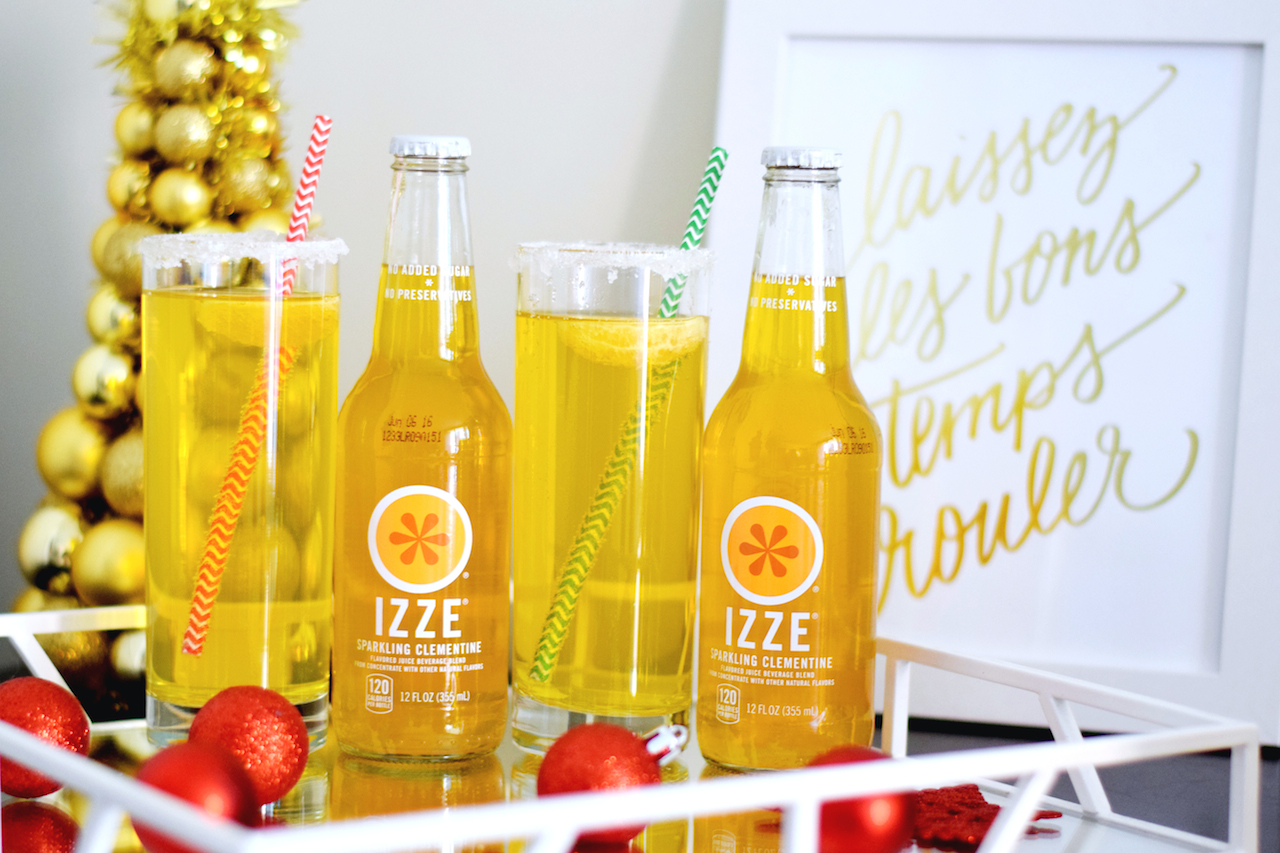 izze clementine champagne cocktail