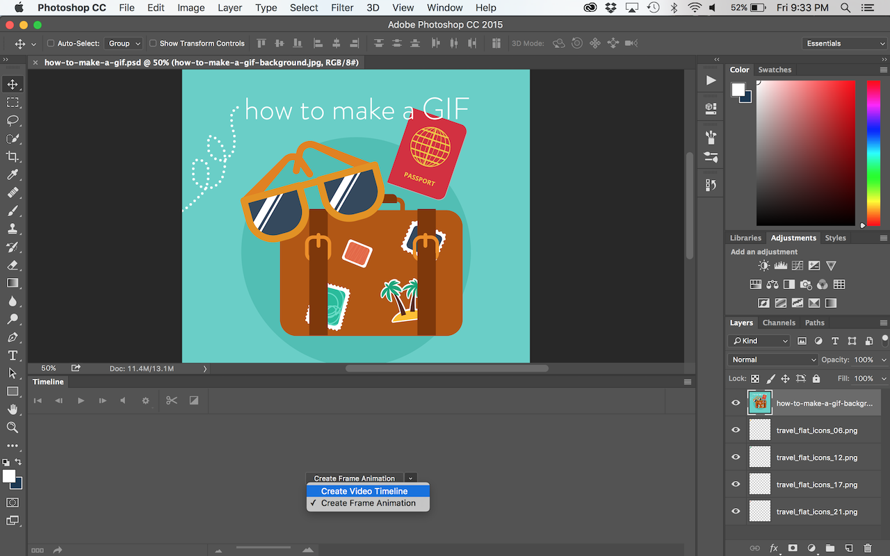 how to create a gif animation