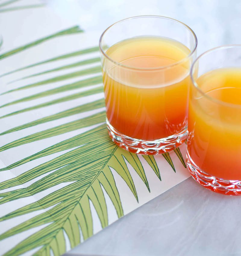 pineapple sunrise cocktail