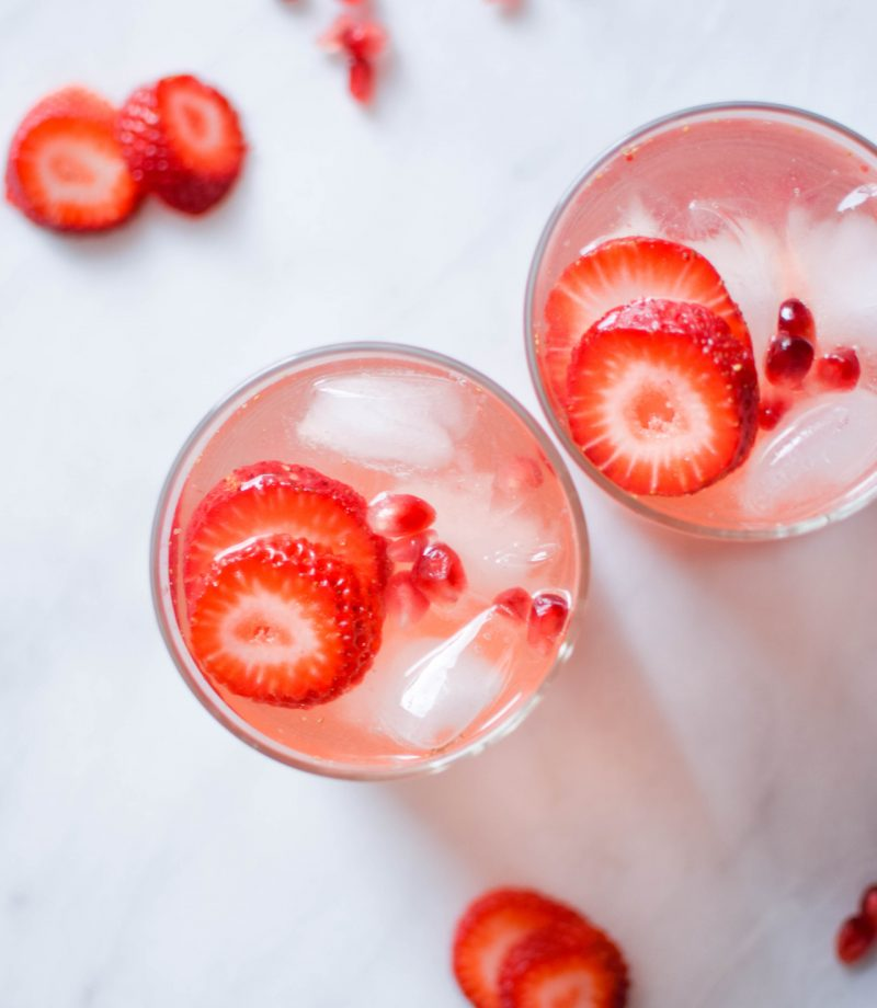 rose strawberry sangria