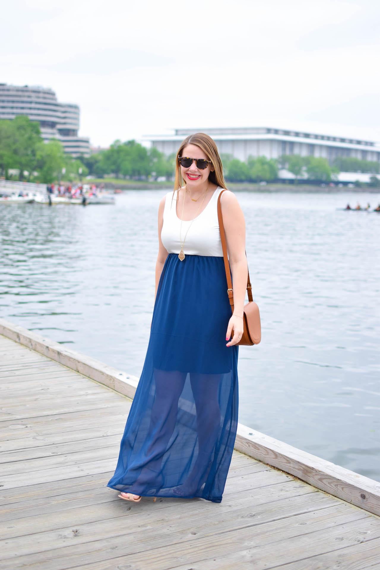 mint julep boutique review navy maxi dress