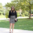 j crew leopard pencil skirt for work