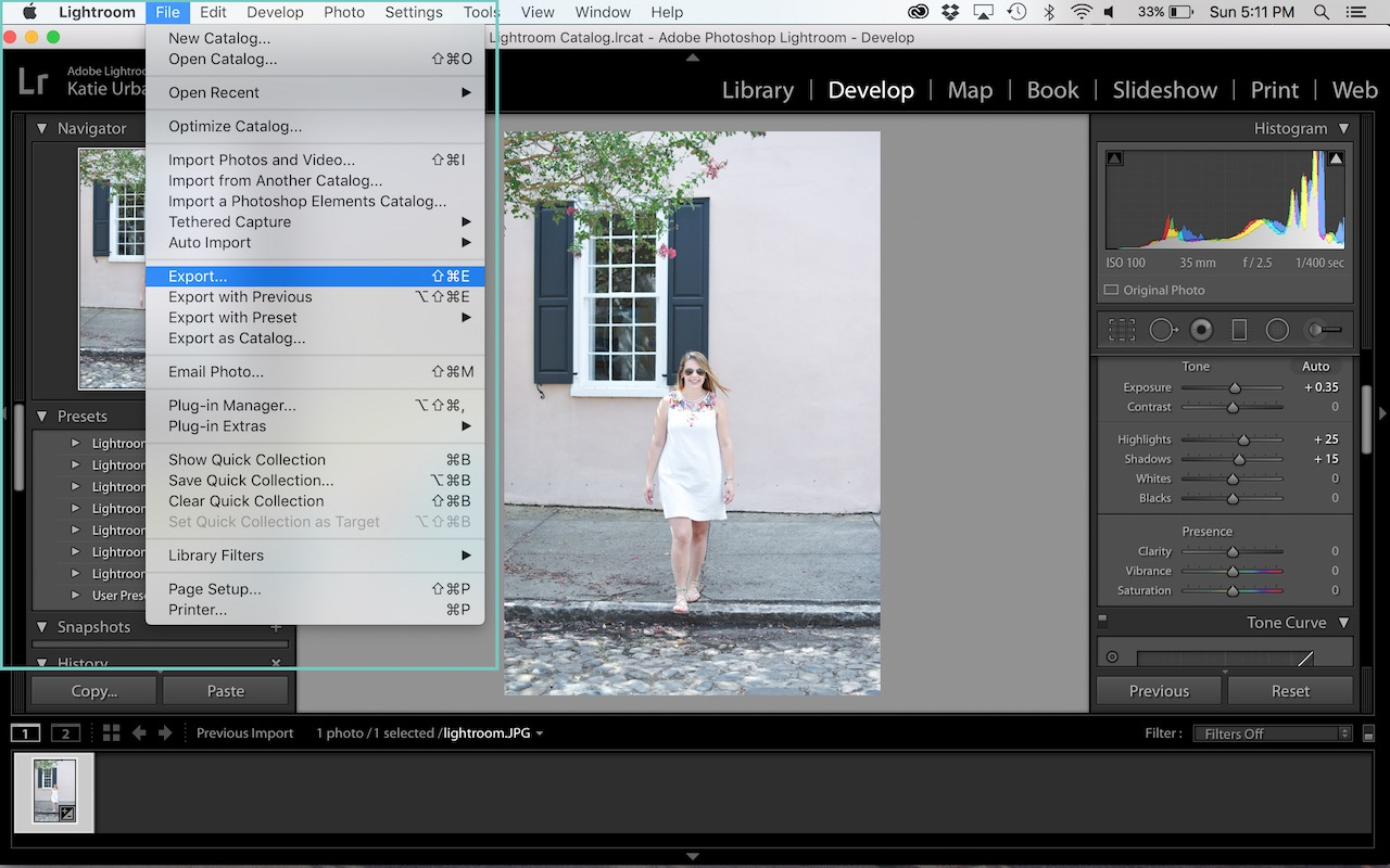 easy lightroom tutorial for bloggers