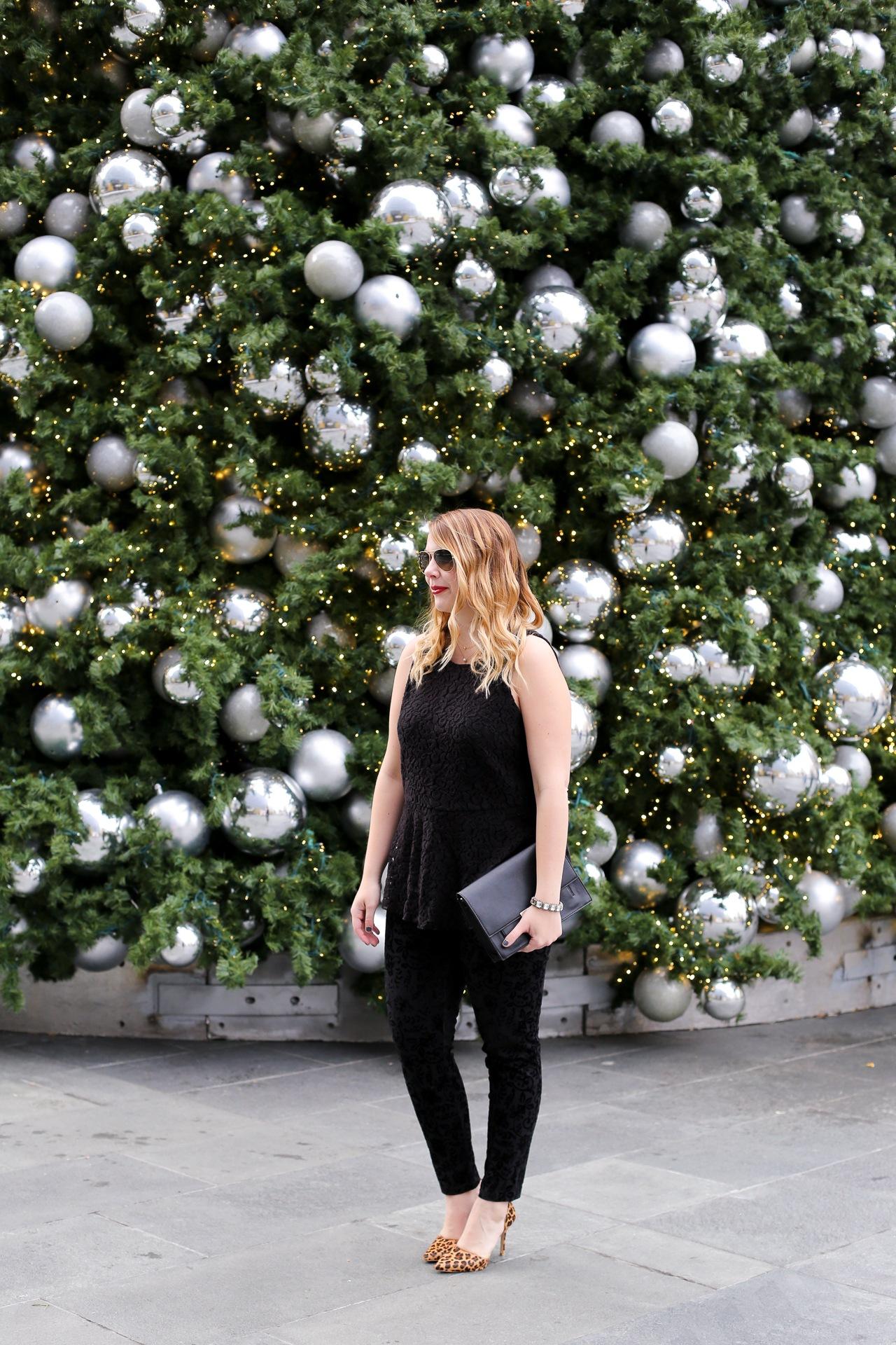 how to wear velvet leggings