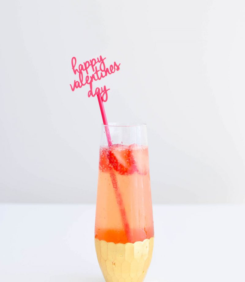 strawberry gin fix cocktail valentines day