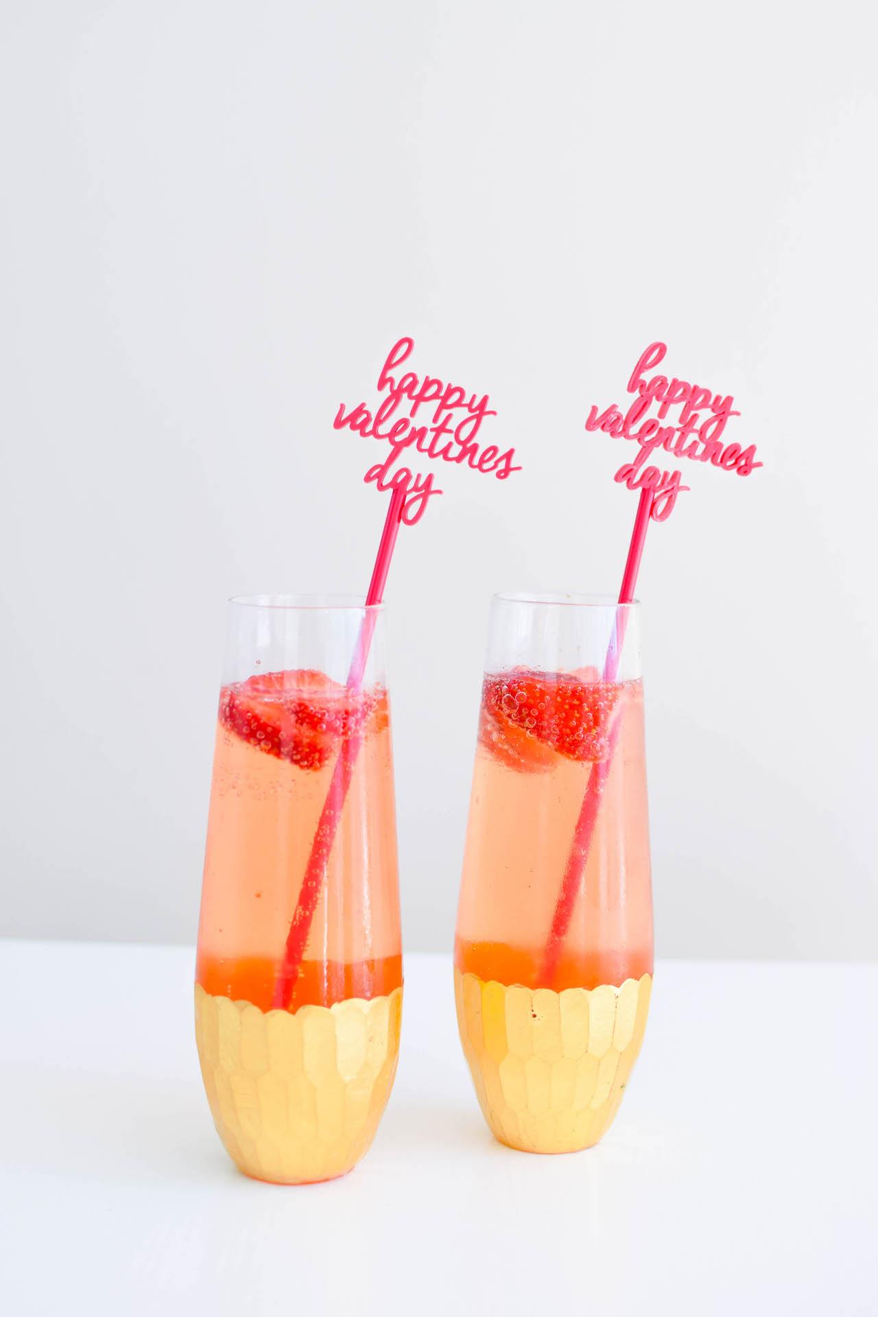strawberry gin fix cocktail valentines day