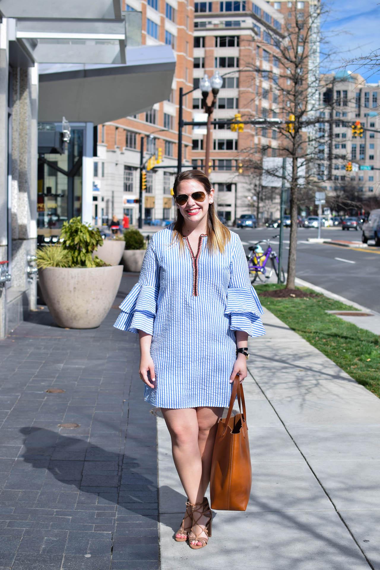 bell sleeves dress for spring