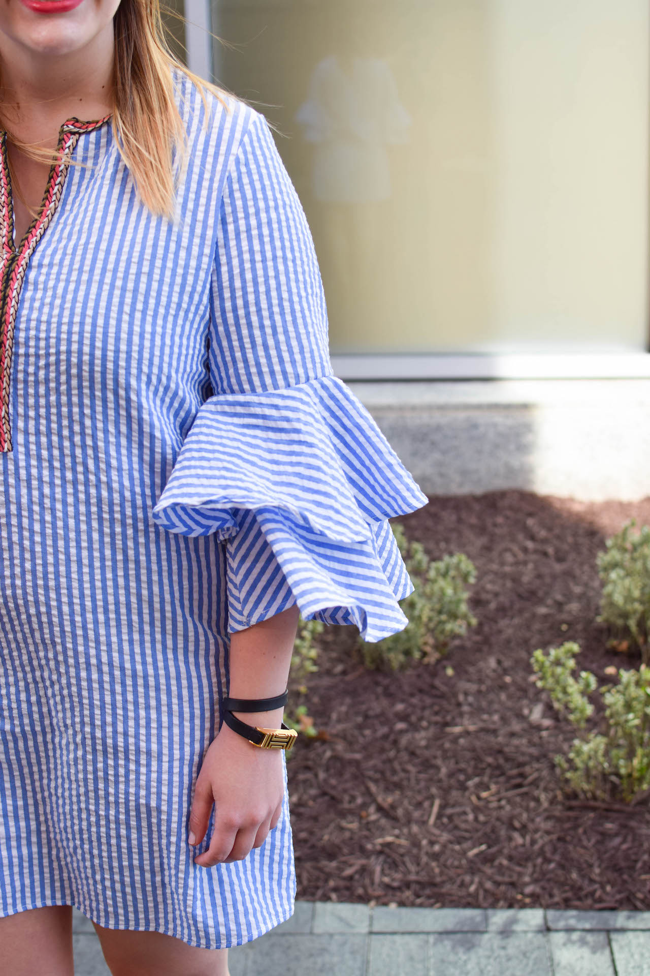 bell sleeves dress for spring
