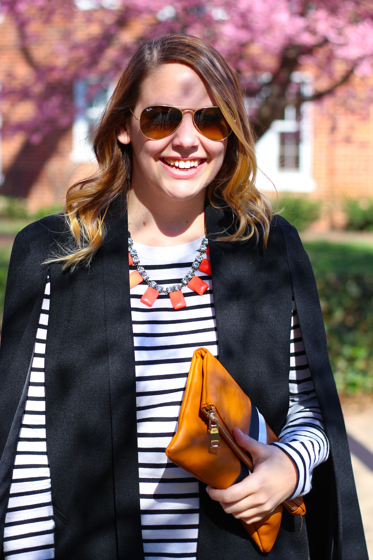 transitional winter to spring outfit idea