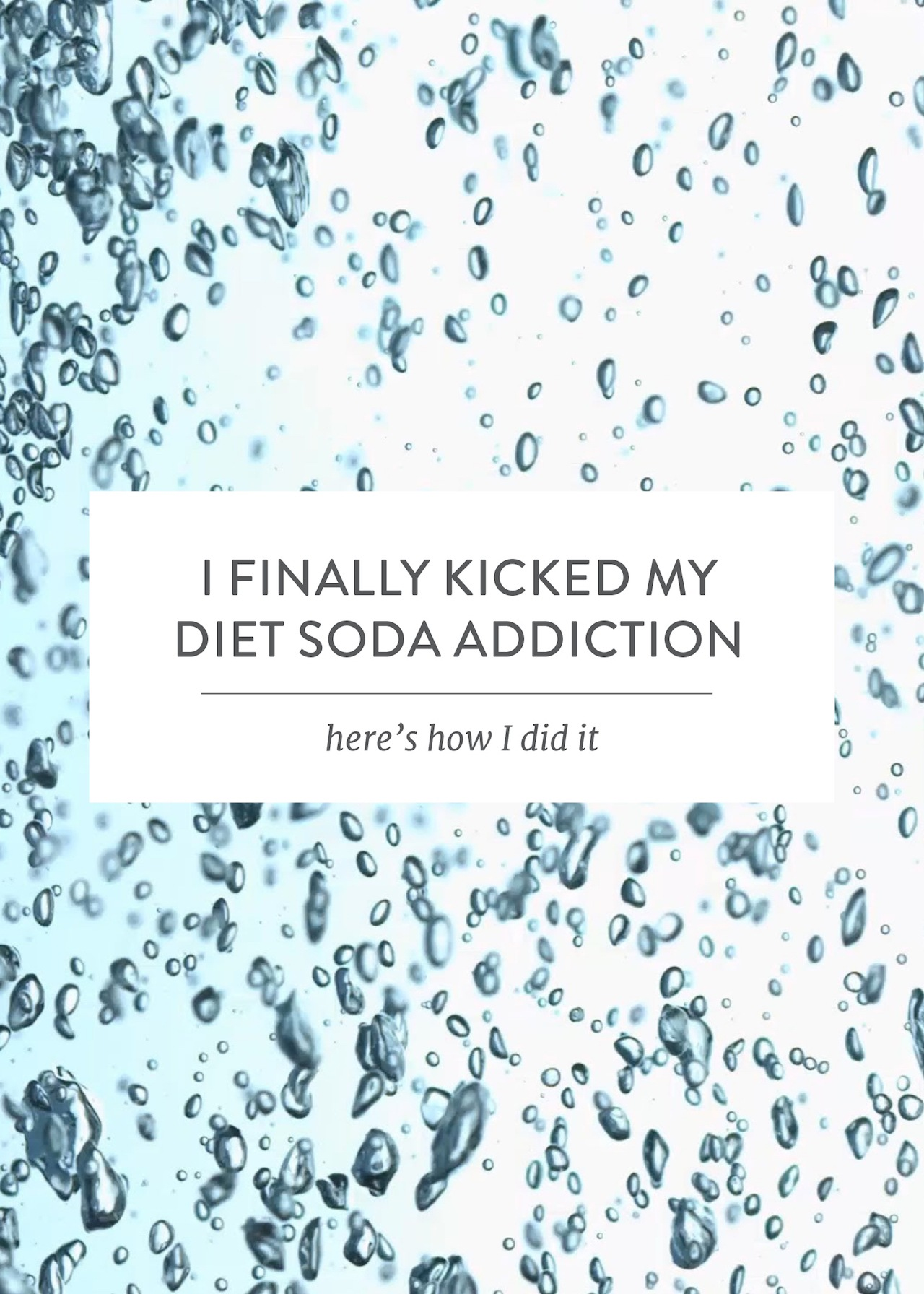 how to quit diet soda