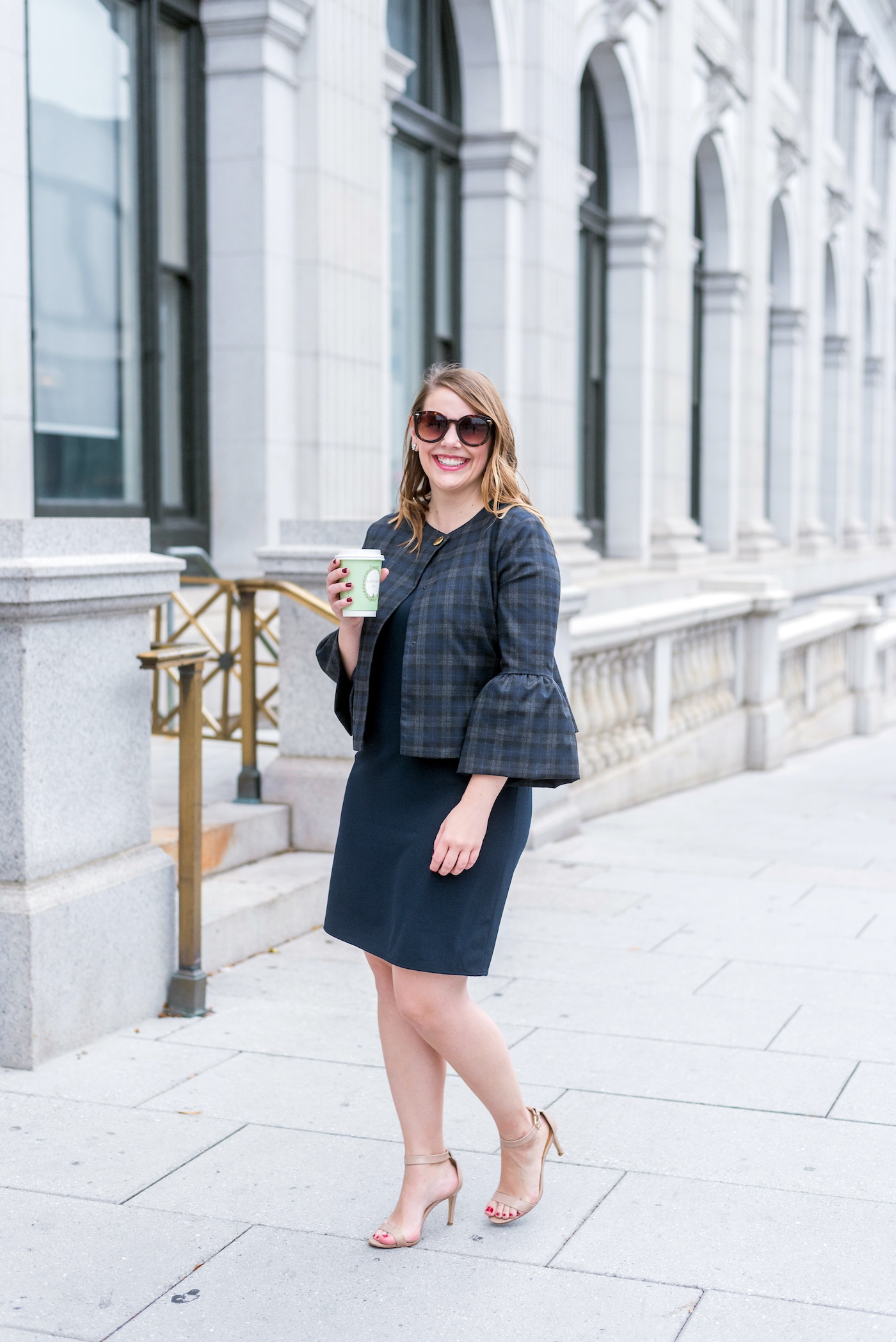 fall business casual workwear outfit