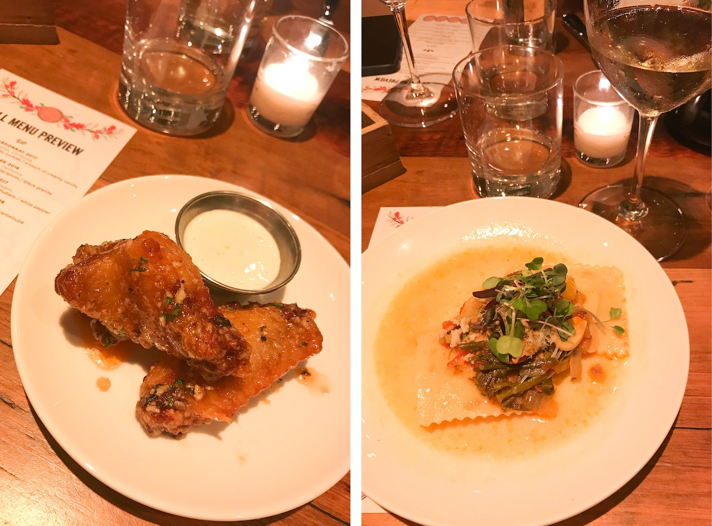 fall menu at city winery dc