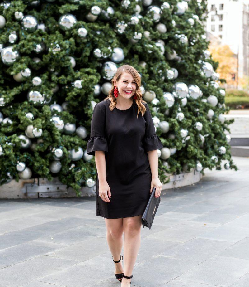 charles henry bell sleeve shift dress