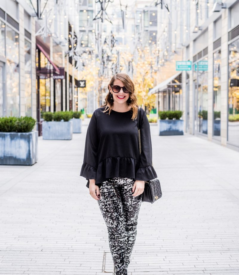 express sequin leggings review