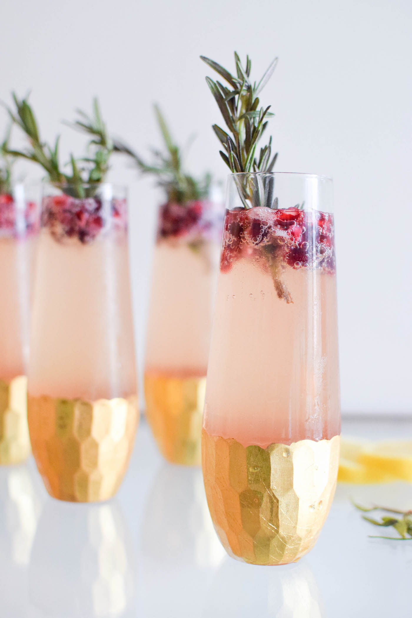 pomegranate spritzer for the holidays