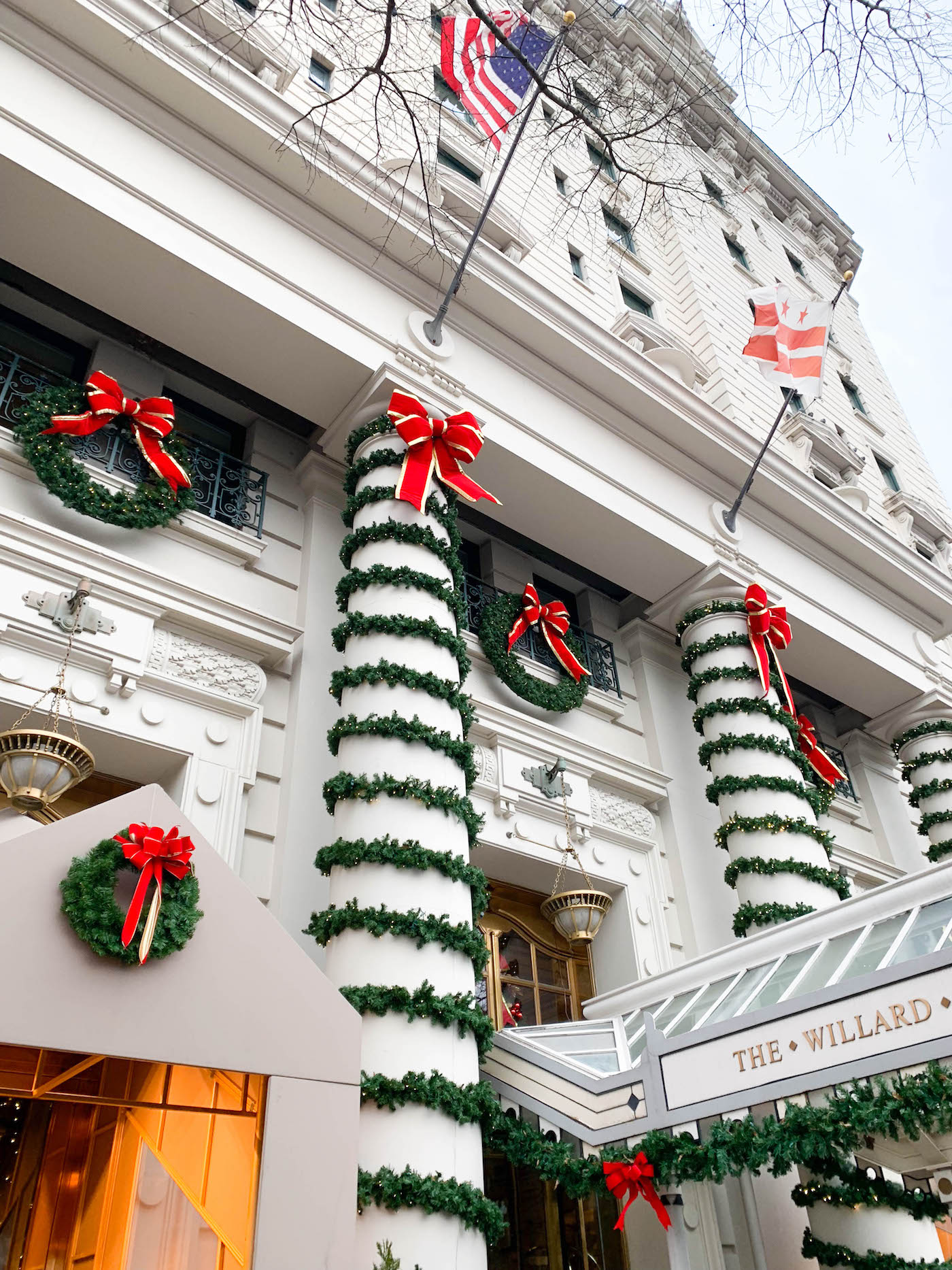 willard hotel christmas decorations