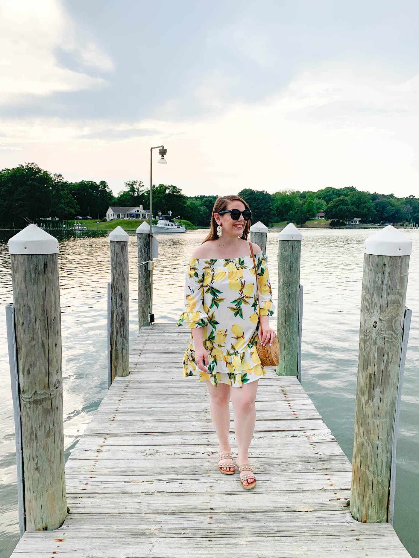 ckdress lemon dress