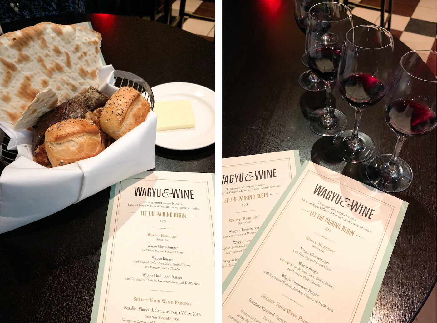 wagyu and wine the capital grille review