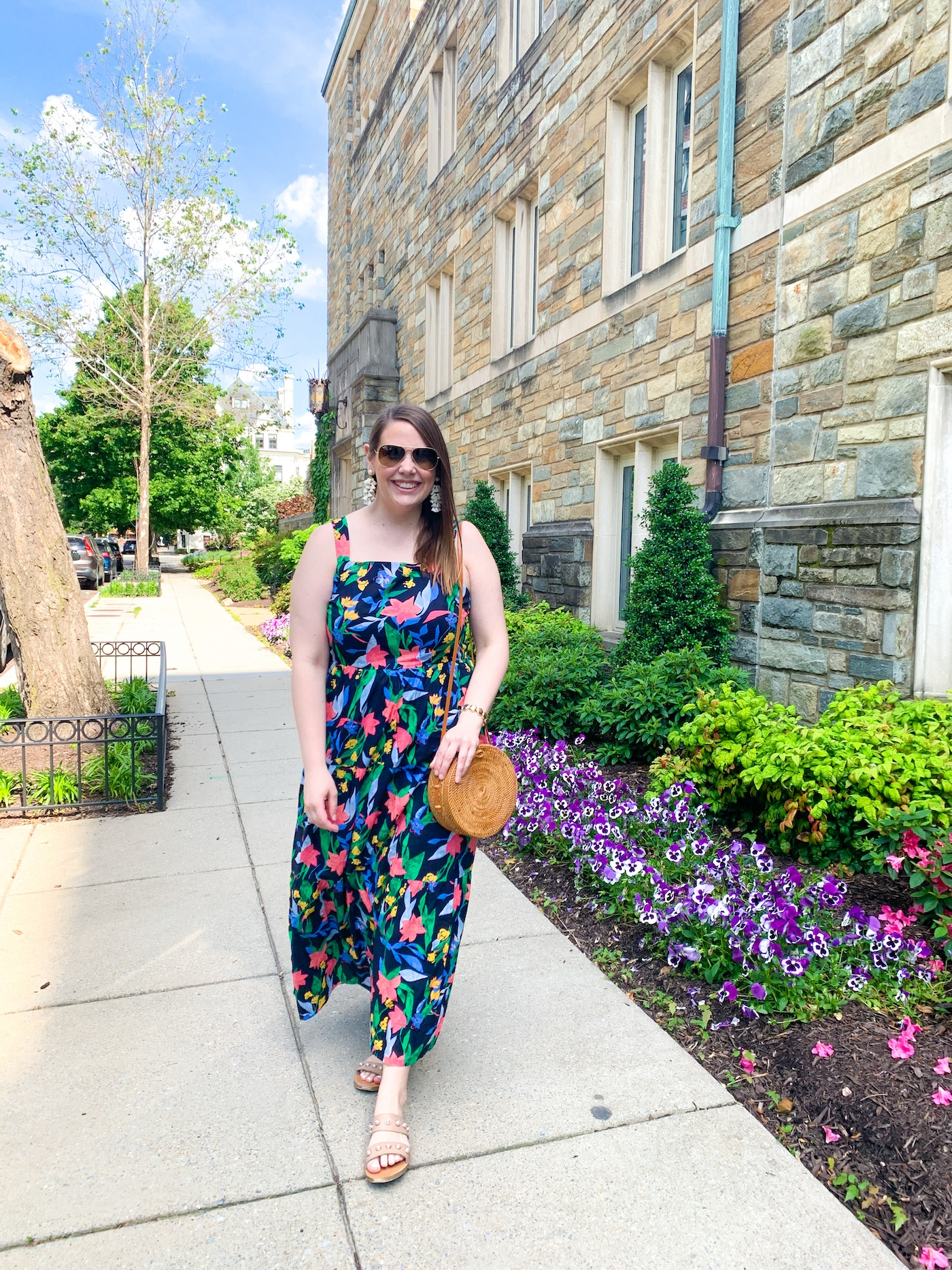 j crew floral maxi for summer